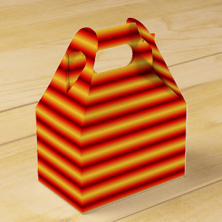 Orange and Yellow Striped Favor Box