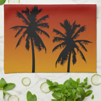 Orange And Yellow Tropical Sunset Kitchen Towel