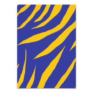 "Orange Animal Stripes 3.5"" X 5"" Invitation Card"