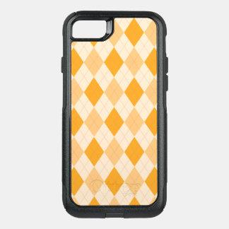 Orange Argyle OtterBox Commuter iPhone 8/7 Case