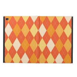 Orange argyle pattern