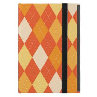 Orange argyle pattern case for iPad mini