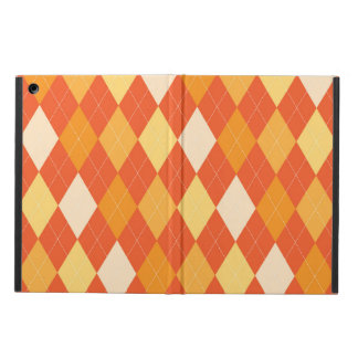 Orange argyle pattern iPad air case
