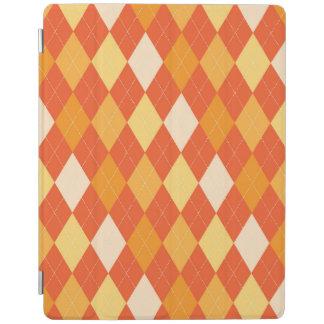 Orange argyle pattern iPad cover