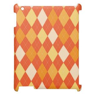 Orange argyle pattern iPad covers