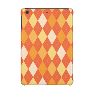 Orange argyle pattern iPad mini retina case