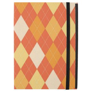 """Orange argyle pattern iPad pro 12.9"""" case"""