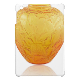 Orange Art Deco glass vase with bird design. iPad Mini Case