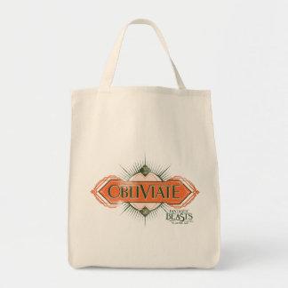 Orange Art Deco Obliviate Spell Graphic