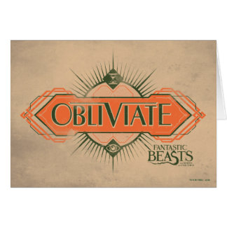 Orange Art Deco Obliviate Spell Graphic Card