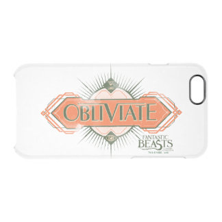 Orange Art Deco Obliviate Spell Graphic Clear iPhone 6/6S Case