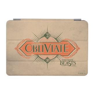 Orange Art Deco Obliviate Spell Graphic iPad Mini Cover