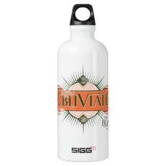 Orange Art Deco Obliviate Spell Graphic Water Bottle