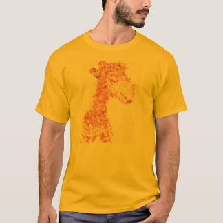 Orange Artsy Giraffe T-Shirt