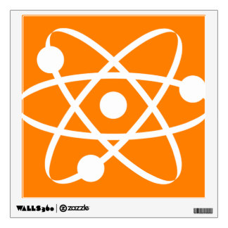 Orange Atom Wall Sticker