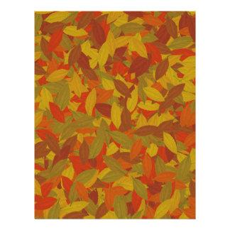 Orange autumn customized letterhead