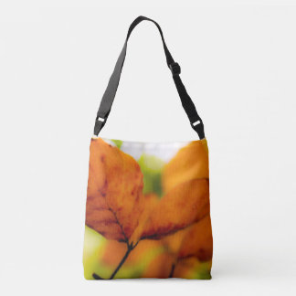 Orange autumn leaves crossbody bag