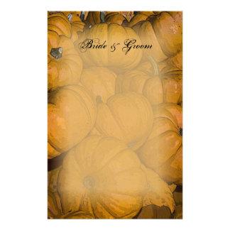 Orange Autumn Pumpkins Wedding Stationery Design