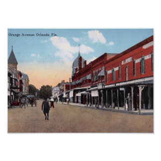 Orange Ave., Orlando, Florida 1914 Vintage Poster