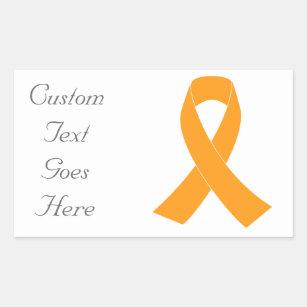 f3a394262d9 Orange Awareness Ribbon - Leukemia, MS Sticker