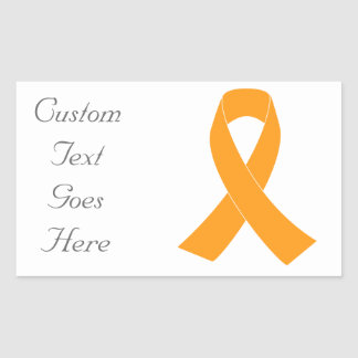 Orange Awareness Ribbon - Leukemia, MS Sticker