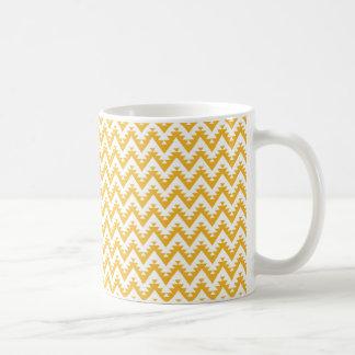 Orange Aztec Chevron Pattern Coffee Mug