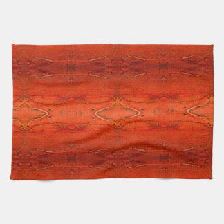 Orange Aztec Pattern Kitchen Towel