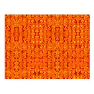 Orange Aztek by Khoncepts Postcard
