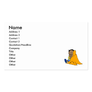 Orange baby blankie business card templates