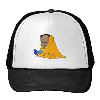 Orange baby blankie hat