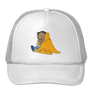 Orange baby blankie trucker hats