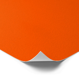 Orange Background Color Customize This! Poster