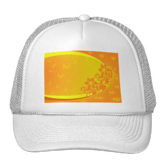 orange background Hat