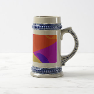 Orange Background Simple Digital Art Coffee Mugs