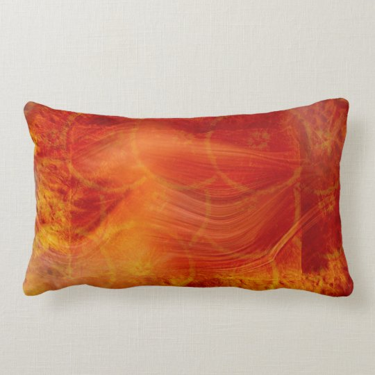 orange bakground lumbar pillow