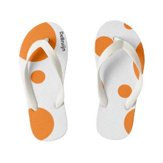 Orange Balls Kid's Flip Flops