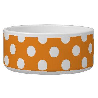 Orange Band White Polka Dots