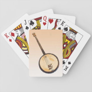 Orange Banjo Music Instrument Playing Cards