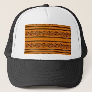 Orange barbwire trucker hat