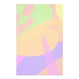 Orange Based Abstract Art Personalized Stationery