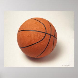 Orange basketball, close-up poster