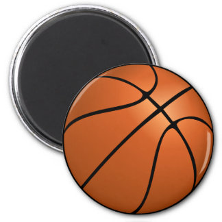 Orange Basketball Magnet