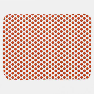 Orange Basketball Pattern Baby Blanket