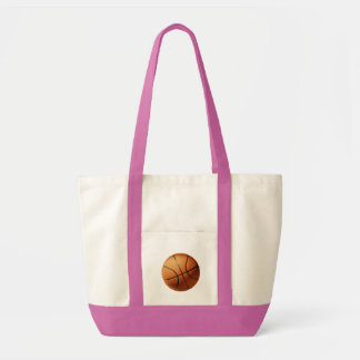 Orange_Basketball_Pink_Impulse_Tote_Shopping_Bag. Impulse Tote Bag