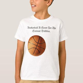 Orange Basketball Serious Dribbler Logo, T-Shirt
