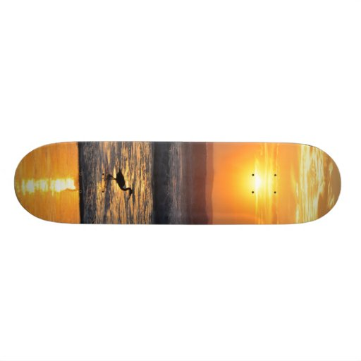 Orange Beach Sunrise Bird Fishing FL Skateboard