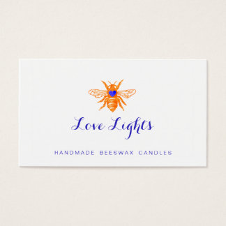 Orange Bee Beeswax Candlemaker Nature Business Card