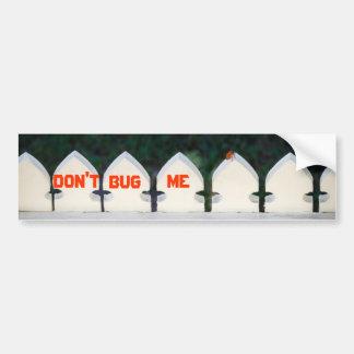 Orange Beetle on Picket Fence Bumper Stickers