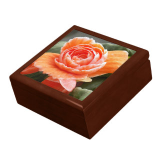 Orange Begonia Floral Gift Box