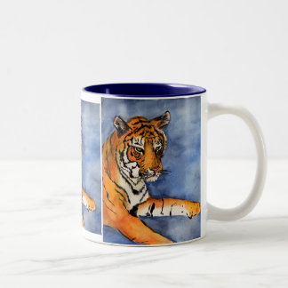Orange Bengal Tiger Watercolor Art Mug or Cup